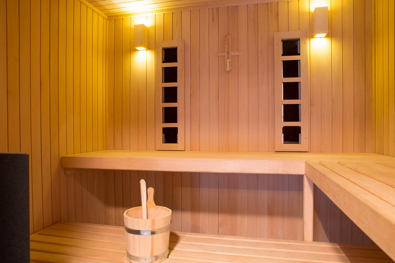 la maison de vacances dispose d'un sauna pour le plaisir des vacanciers