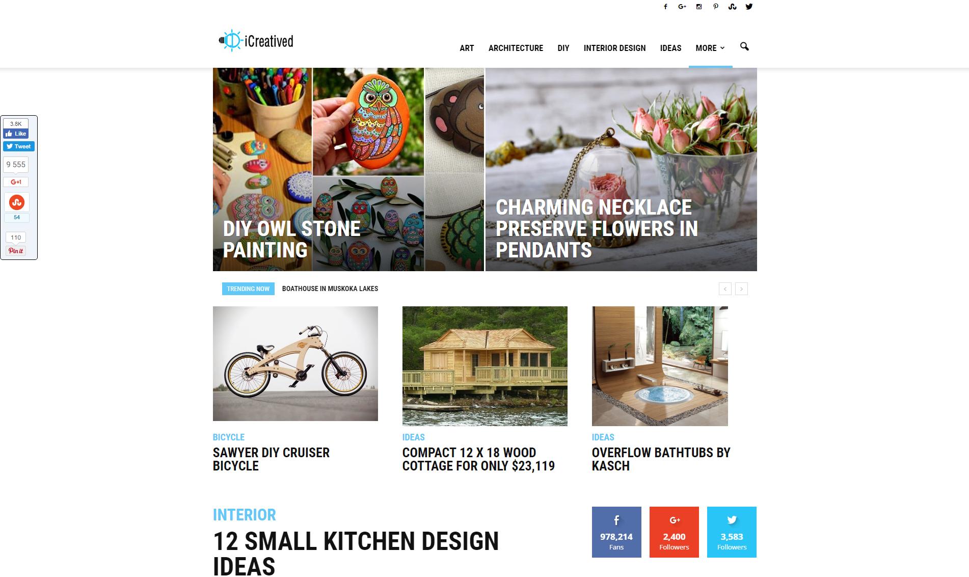 icreatived.com vous donne des idées belles et nouvelles