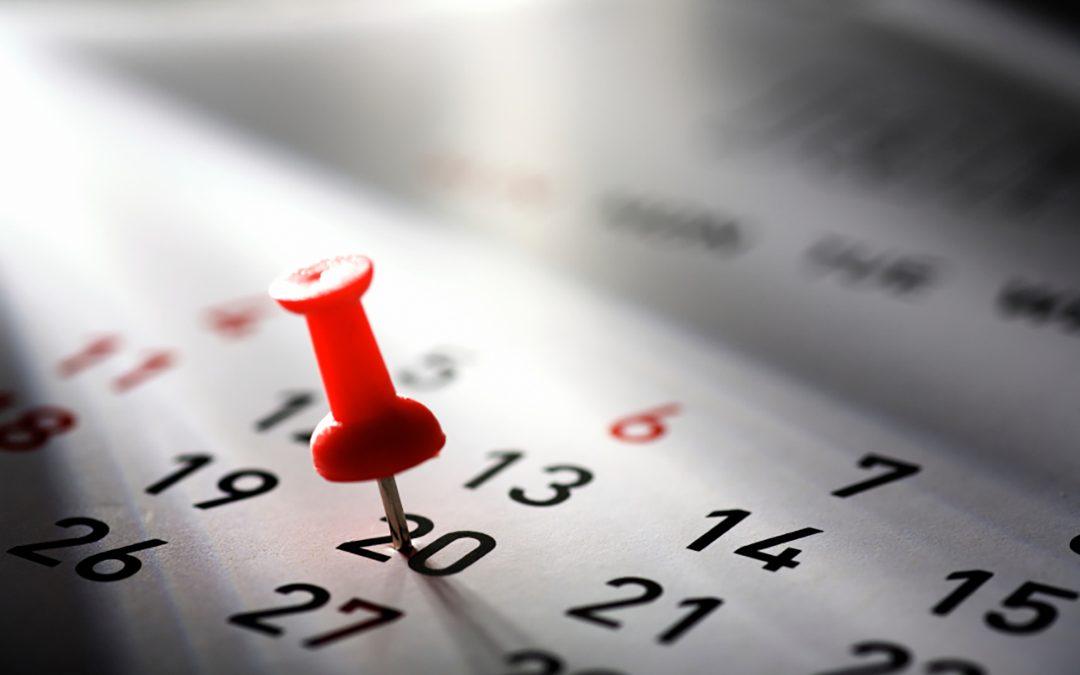 Le calendrier de votre maison de vacances