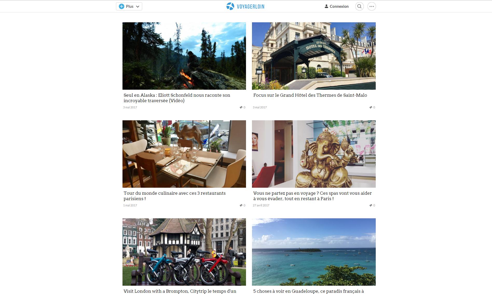 voyagerloin.com est blog où les vacanciers partagent leur passion pour le voyage