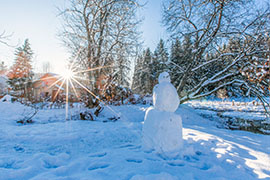 Les vacanciers en Ardenne en hiver