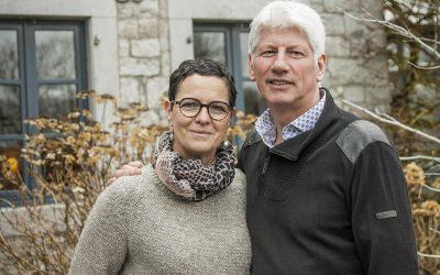 Portrait propriétaire : Christiane et Pascal à Durbuy
