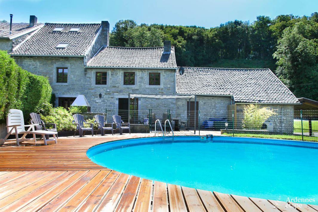 maison de vacances de caract re pour 9 personnes avec piscine anthisnes. Black Bedroom Furniture Sets. Home Design Ideas