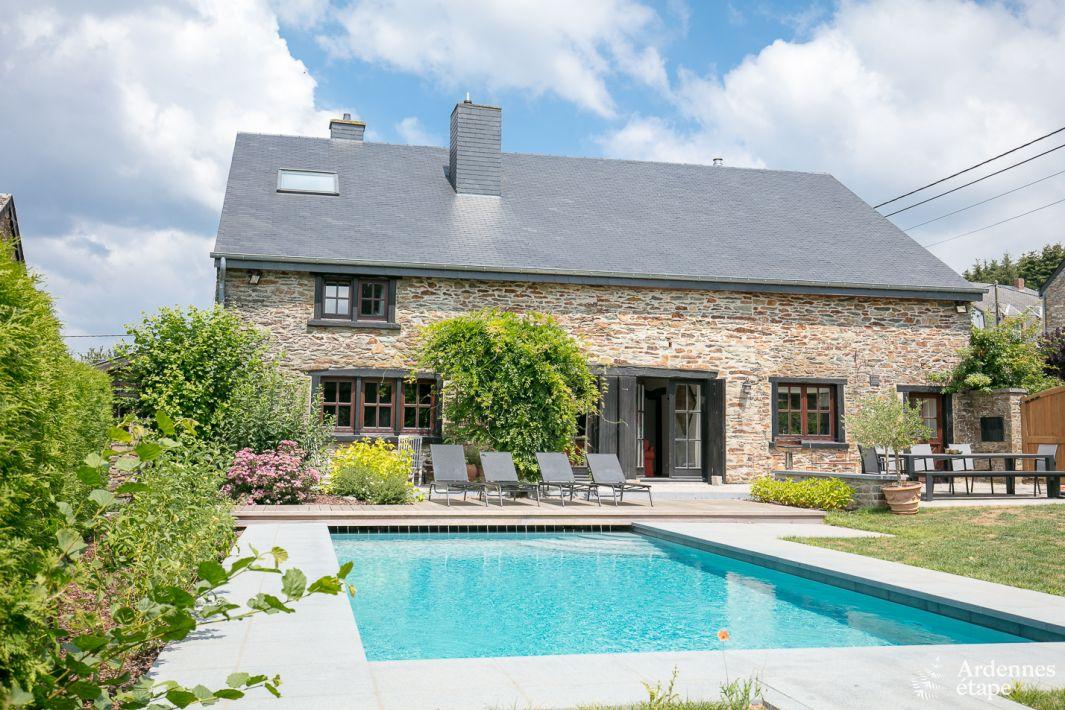 Villa de charme avec piscine ext rieure et sauna libin for Camping ardennes belges avec piscine