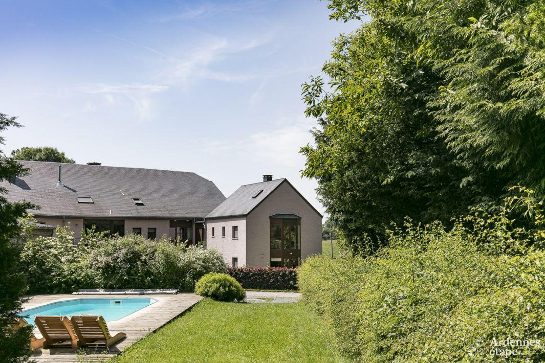Maison de vacances 4 toiles pour 9 personnes libramont for Recherche maison avec piscine pour vacances