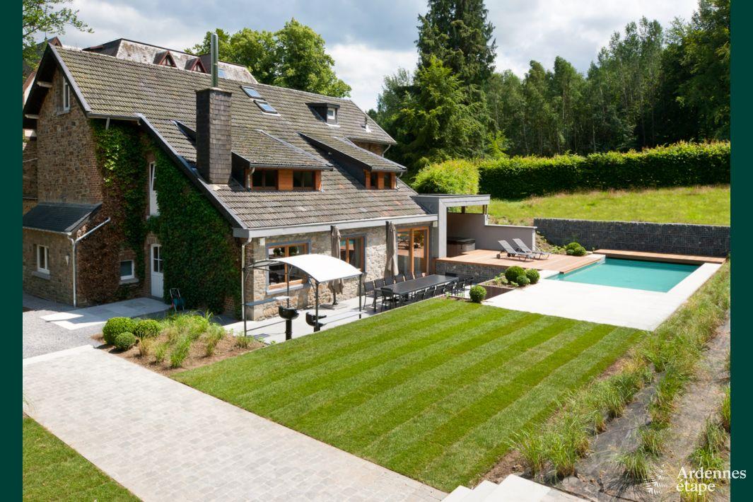 Villa de luxe pour 14 pers avec jardin piscine et for Camping ardennes belge avec piscine