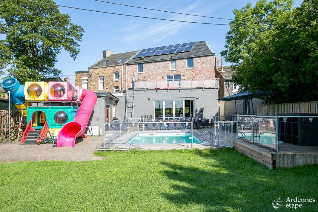 Maison de vacances avec piscine louer theux pour 25 for A louer maison de vacances