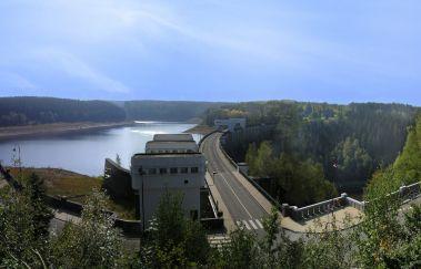 Lac et Barrage d'Eupen-Lac à Province de Liège