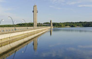 Visite du barrage des Lacs de l'Eau d'Heure-Lac à